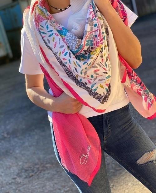 foulard Shanna rose