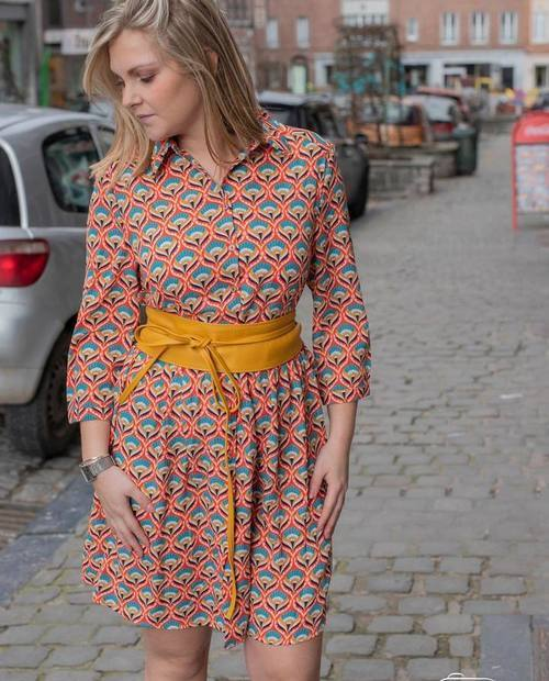 robe chemise retro orange