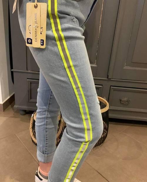 jeans toxik bandes fluo