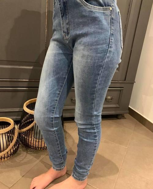 jeans nœud strass