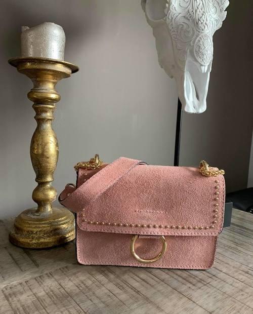 sac en cuir rose