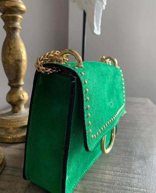 sac en cuir vert