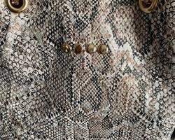 sac bourse cuir noir/taupe effet python