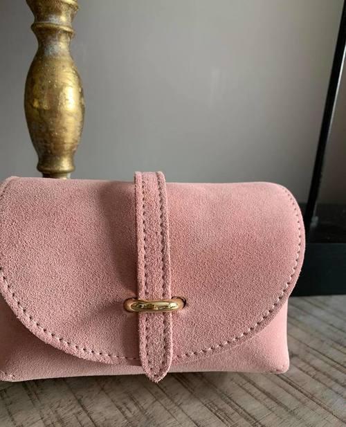 petit sac en cuir rose