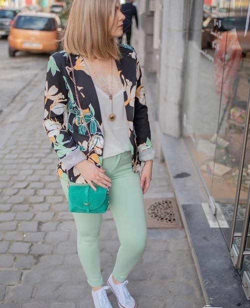 pantalon vert d'eau