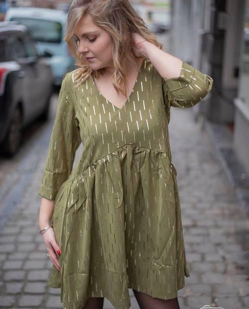 robe bohème kaki