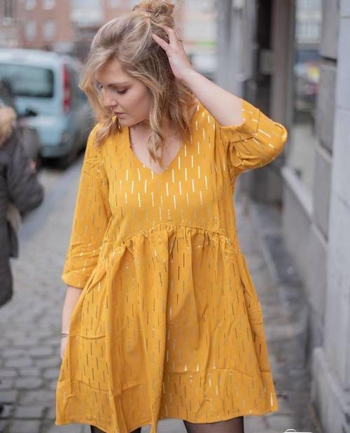 robe bohème moutarde