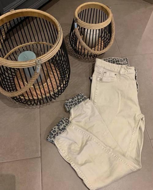 pantalon réversible léopard