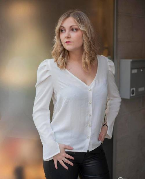 blouse strass blanche