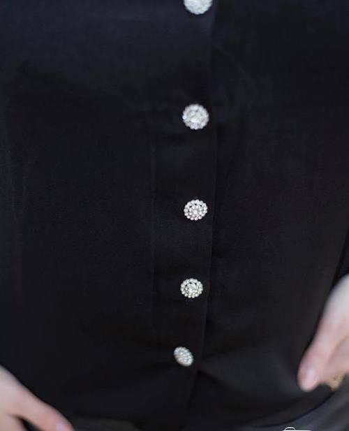 blouse strass noire
