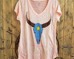 Tee-shirt 100% lino Tête de buffle