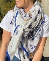 foulard Shanna blanc