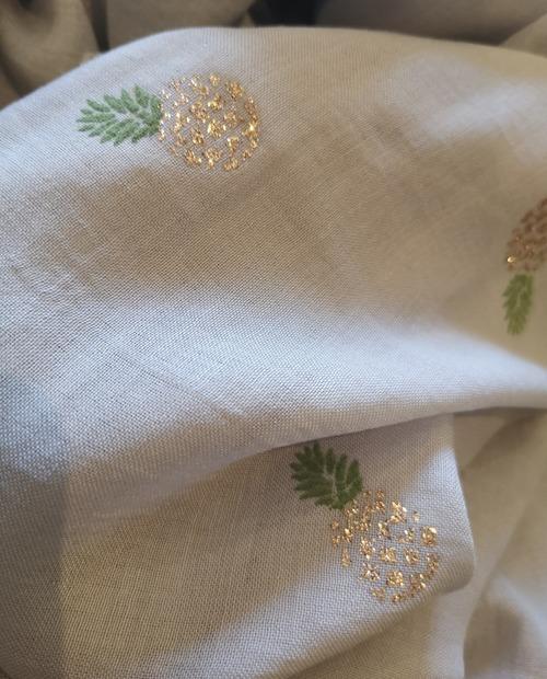 foulard ananas gris