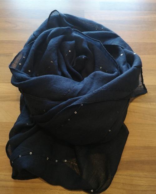 foulard sequins bleu