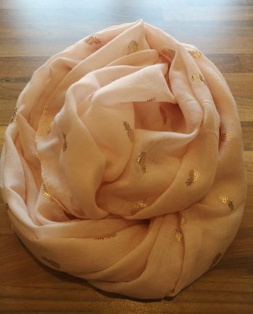 foulard ananas rose gold