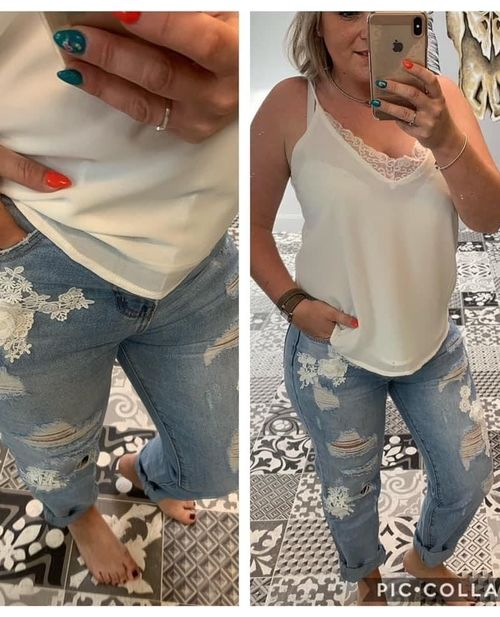 jeans broderie