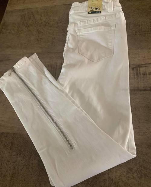 jeans toxik blanc