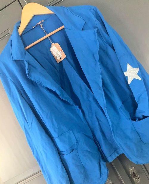 blazer bleu roi