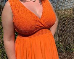 robe la croisette orange