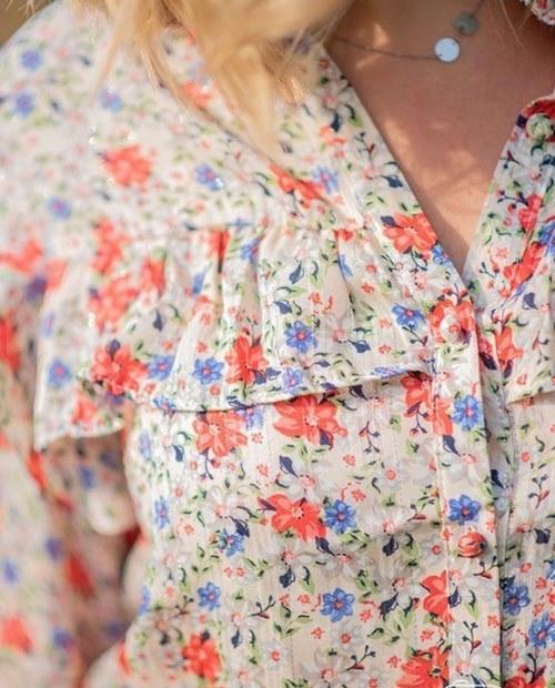 chemise fleurie
