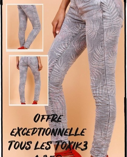 jeans toxik3 tropical