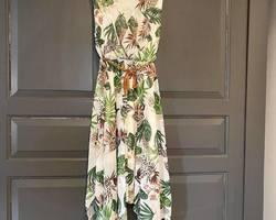 robe asymétrique léopard