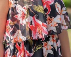 robe voile corail courte