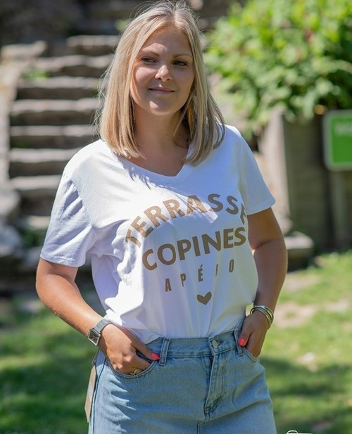 t-shirt terrasse copine apero