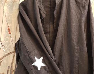 Veste lin étoile coude