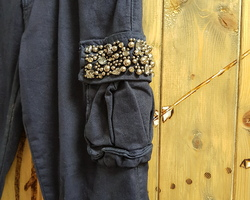 Pantalon poches perles
